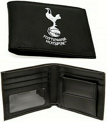 Tottenham Hotspur Fc Embroidered Spurs Leather Money Wallet Coin Cash Card Thfc
