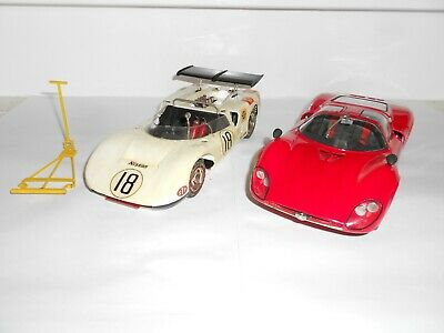 1:20 Scale Assembled plastic kits. Alfa Romeo & Nissan. Fair to Good Condition