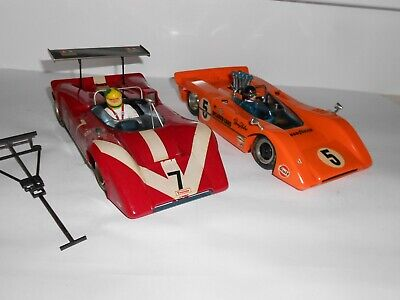 1:20 Scale Assembled Tamiya plastic kits. Racing cars with drivers. Good Cond.
