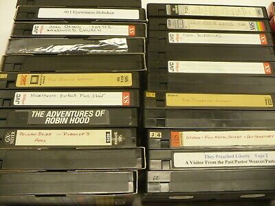 LOT SALE OF 33 VHS tapes without covers - $50 00 | PicClick