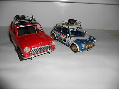 1:20 & 1:16 scale Assembled plastic kits. Mini Cooper's x 2.Good Cond/Incomplete