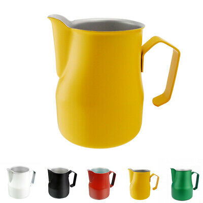 MU Stainless Steel Milk Frothing Jug Coffee Pitcher Cup 12/19/126 Fluid Ounce AT