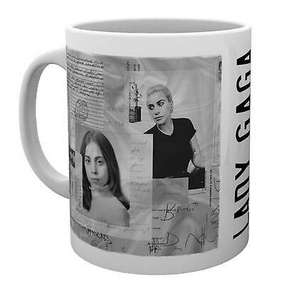 Lady Gaga Mug Notes Portrait Logo Fame Monster new Official White Boxed One Size
