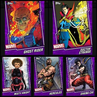 5x Topps MARVEL COLLECT DIGITAL Card FUSION PURPLE BASE DOCTOR STRANGE/SHANG CHI