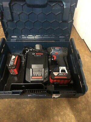 Bosch Professional 18v Impact Driver 2x 4a Batterys , Charger And V Boxx Bnib