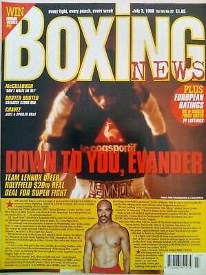 BOXING NEWS - 3 July 1998 - HOLYFIELD - EXCELLENT CONDITION