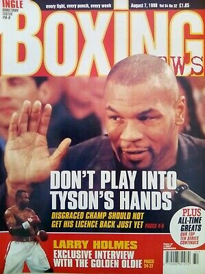 BOXING NEWS - 7 Aug 1998 - TYSON  - EXCELLENT CONDITION