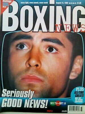 BOXING NEWS - 14 Aug 1998 - DE LA HOYA- EXCELLENT CONDITION