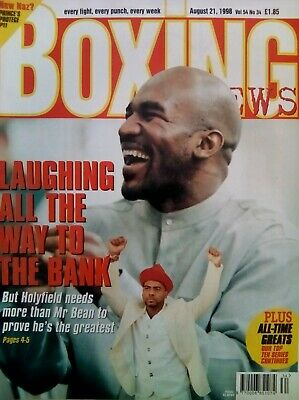 BOXING NEWS - 21 Aug 1998 - HOLYFIELD - EXCELLENT CONDITION
