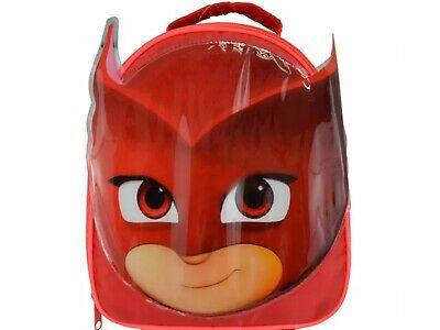 Official Licensed PJ Masks Owlette Face Shape Red Insulated Kids Lunch Bag. New