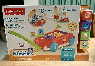 Fisher Price - Roller Blocks Rockin Wagon Red