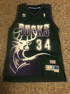hot sales bae0b e7393 MILWAUKEE BUCKS RAY Allen Hardwood Classic Jersey #34