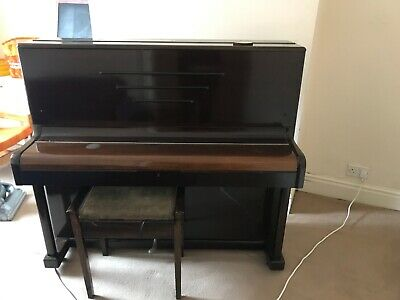 Antique Art Deco Eungblut Upright Piano With Stool - FREE
