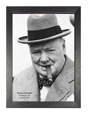 ART PRINT POSTER VINTAGE PHOTO WINSTON CHURCHILL CIGAR PORTRAIT BRITAIN NOFL0481
