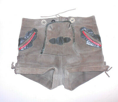 Antique Leather Pants Size 110 Sepplhose Knabengröße Trousers True Vintage