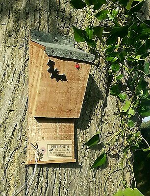 Bat Box  Roosting Nest Box / House, Quality Handmade Batbox With Felt Roof   ^●^