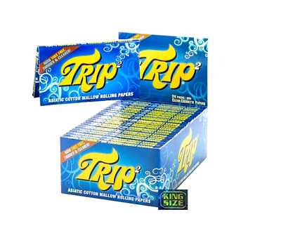 Trip 2 Clear Cellulose King Size Transparent Rolling Papers Buy 4@$2.44/PK! USA