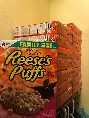 Travis Scott X Reeses Puffs Cereal Cactus Jack LIMITED FAMILY SIZE **SOLD OUT**
