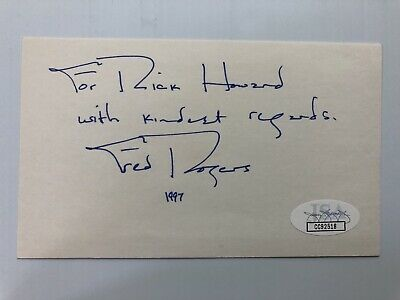 Fred Rogers Mr Mister Rogers Neighborhood Signed Autograph JSA FREE PRIORITY S&H