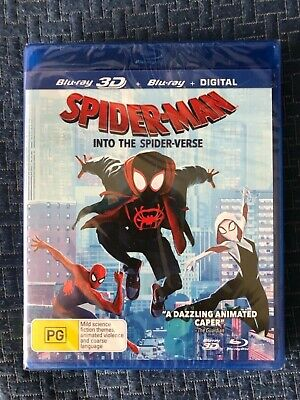 Spider-Man Into the Spider-Verse 3D Blu-ray + Blu-ray 100% English new/sealed