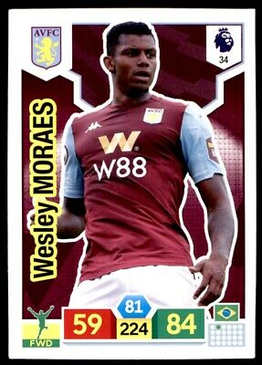 Panini Premier League Adrenalyn XL 2019/20 - Wesley Morales Aston Villa No. 34