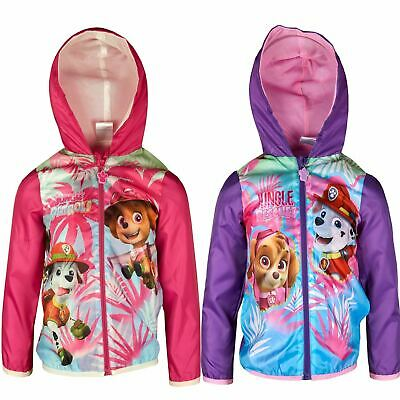 Girls ER1177 Paw Patrol Lightweight Hooded Jacket / Raincoat with Bag