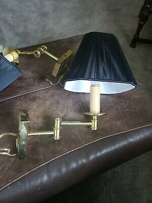 Two Top Brass Lighting Movable Sconce Cast Brass Lamp Sconce wall mounted light