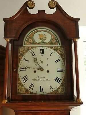 longcase clock in oak circa 1840