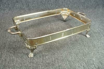 """14"""" Wide Silver Plated Footed Tray With Handles GSA Vintage"""