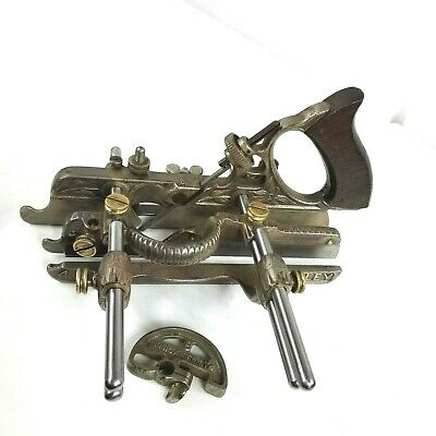 STANLEY No 45 COMBINATION PLANE. COMPLETE 23 CUTTERS + BROCHURE