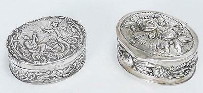 Two Antique European Silver Pill/Snuff Boxes.