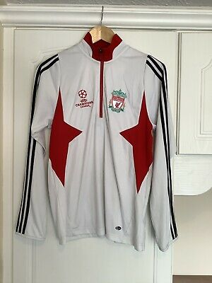 Liverpool FC LFC Champions League Adidas Training Top White Small Mens