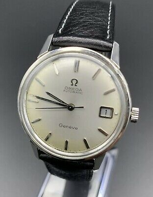 Vintage Omega Automatic Geneve Date Mens Wristwatch Watch