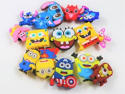 15 pcs Cartoon Shoe Charms for Croc & Bracelet & shoes Wristband Kids Party