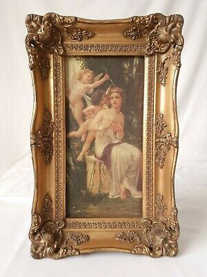 Daniel Tixier Antique Signed Oil on Canvas Painting in Frame