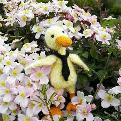 Duck - Hand Knitted Soft Toy - New Custom Crafted