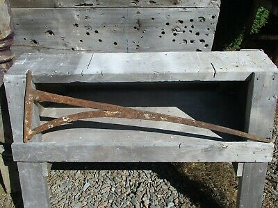 Antique Iron Bee Hive Oven Crane ~ Hand Forged, Cooking Swing Crane, Fireplace