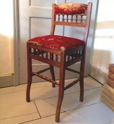 Antique Aesthetic Movement 19th C Victorian Correction Chair or Deportment Chair