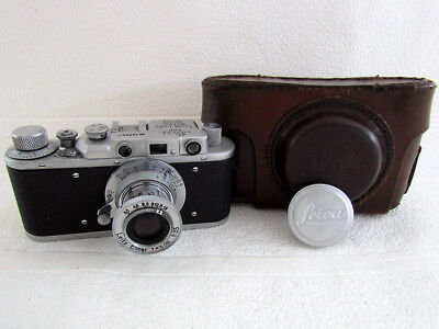 Leica IID Ernst Leitz Wetzlar WWII Vintage Russian 35mm Chrome Camera EXCELLENT