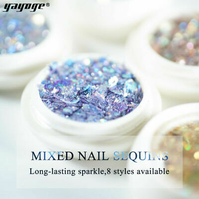Flakes Charms Mixed Powder Art Broken 3D Dust Sequins Nail Decor Glitter
