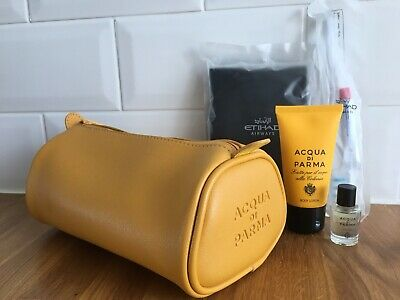 Acqua Di Parma Eithiad Travel Make Up Bag With Cologne & Body Lotion Colonia