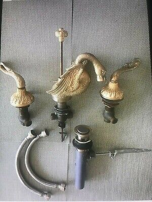 Vintage Sherle Wagner Plylrich style swan faucet fixture