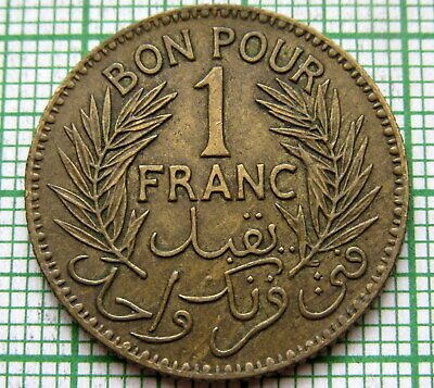 Tunisia Chambers Of Commerce Coinage 1941 1 Franc
