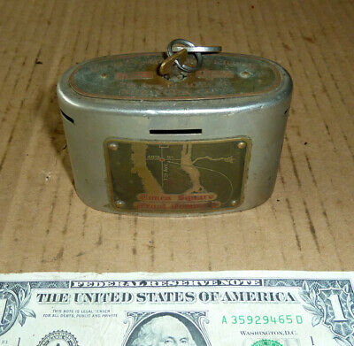 Vintage Times Square Trust Co.BANK,No.607,1913 USA,Automatic Recording Safe Co.