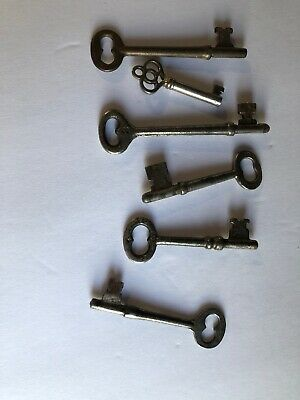 Lot of 6 Vintage OLD ANTIQUE  SKELETON KEYS