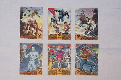 1994 Fleer Ultra X-Men Triptych Blue Gold Team Full Set #1-6 Mint Condition