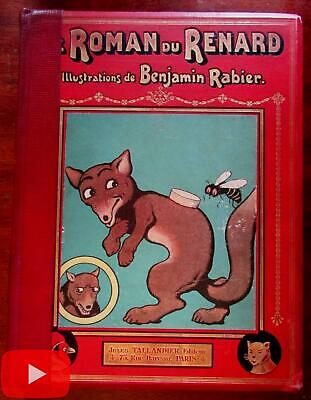 Renard the Fox c.1905 French B. Rabier color illustrated story book Tallandier