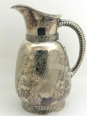 James W. Tufts Silverplate Aesthetic Water Pitcher