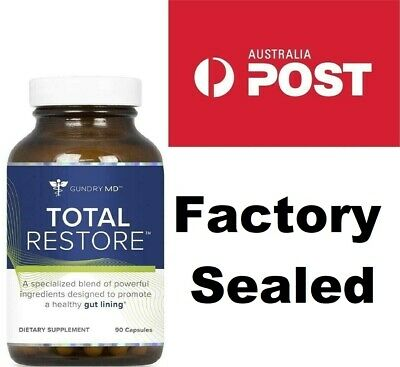 Gundry MD Total Restore 90 Capsules (Promote Healthy Gut Lining) Sealed Jar