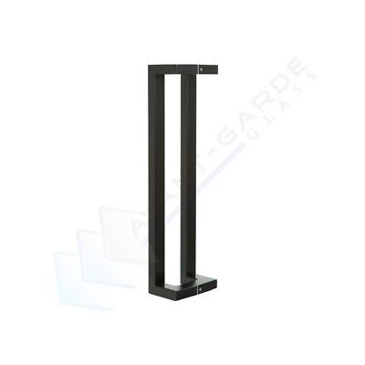 Black Pull Handle Entrance Door 600 Front Modern External Entry Stainless Steel